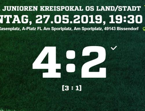 A-Jugend erreicht Kreispokalfinale
