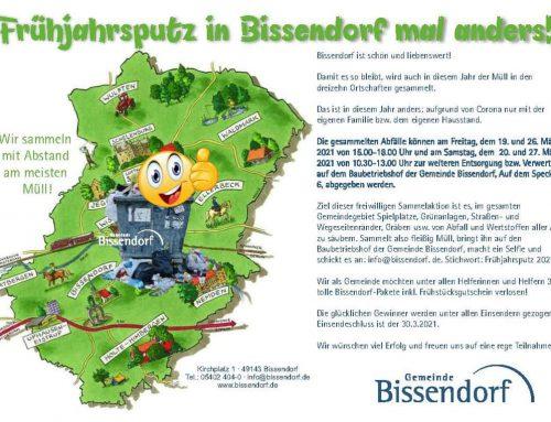 Frühjahrsputz in der Gemeinde Bissendorf – Plogging! Plogging was?!